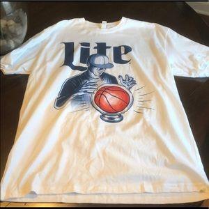 Miller Lite NBA Basketball T-Shirt